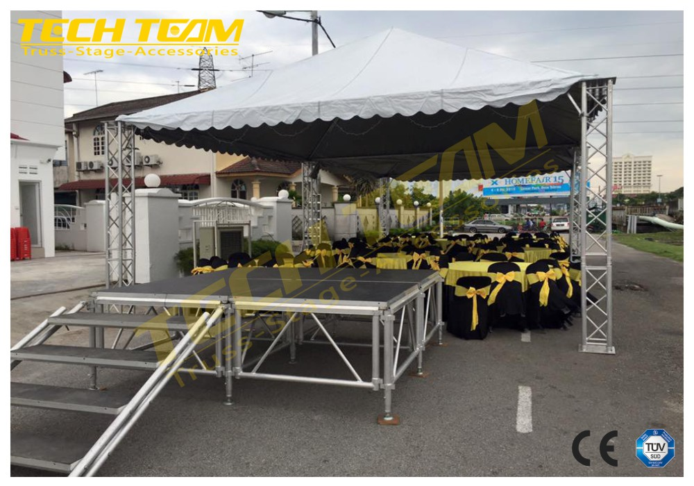 aluminum stage frame truss structure//Used platform stage