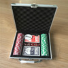 packing in aluminum case100 poker chips set
