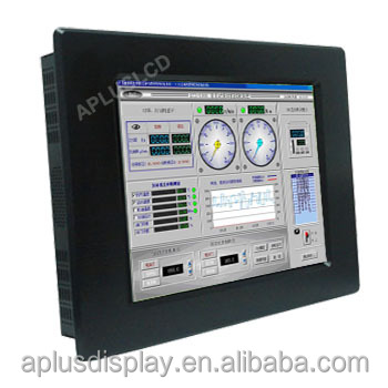 Panel Mount Industrial Grade LCD Monitor 10.4 inch Marine Waterproof LCD Display IP65 IP66 Outdoor Monitor