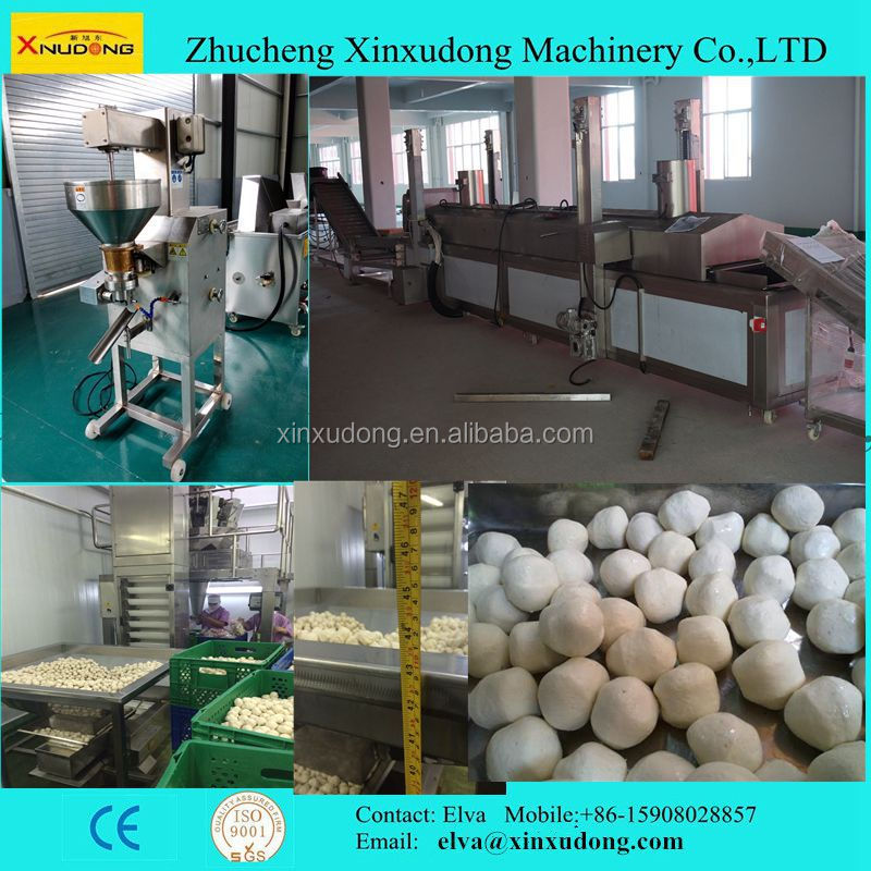 Xinxudong 300kg-3000kg Automatic Pork Shrimp Fish Ball Machine