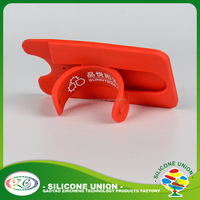 Accepted custom logo for multi band flexible silicone mobile phone holder