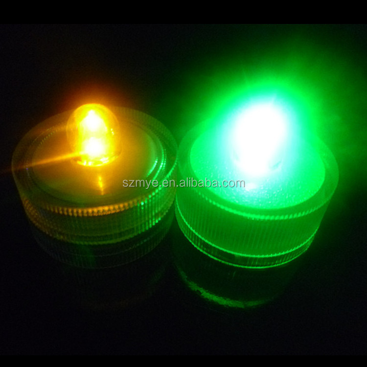 Led Glitter color changing led gift light Round Shape Waterproof stickable LED mini candle Light