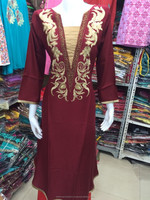Neck embroidery frock style kurti