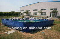 outdoor metal frame pool / above ground metal swimming pool