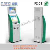Self-service payment terminals with touch screens and bank card reader
