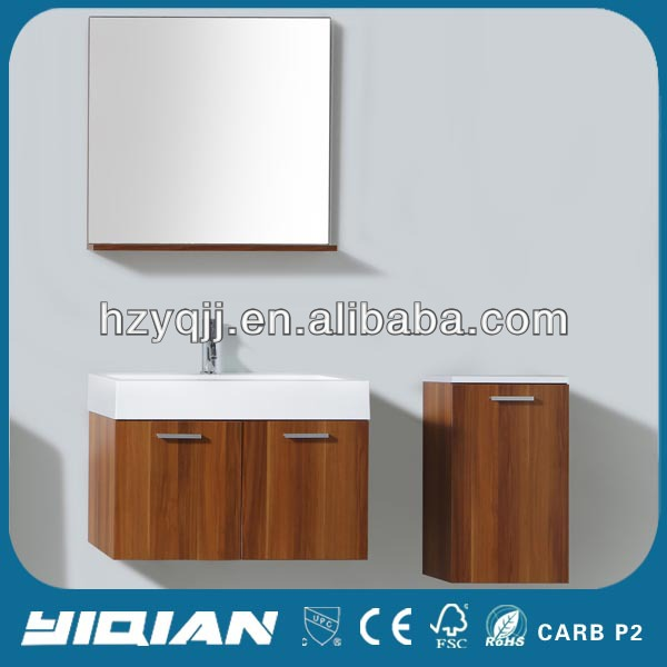 Commercial Modern Design Wall Hung Simple Bathroom Vanity Units