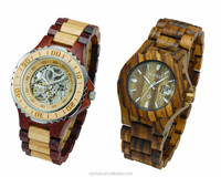 Bewell Waterproof Wood Watch Japanese Movement Automatic Watch With Date