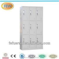 Light grey 9 doors lockable cheap storage cabinets