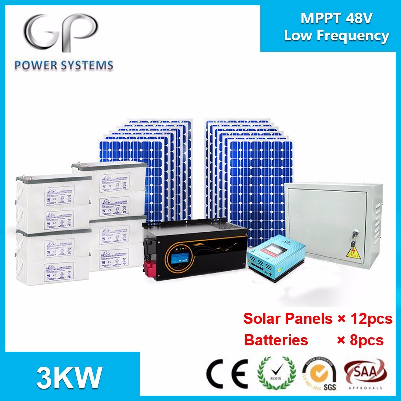 off grid home solar power systems 12v/24v/48v 1kw/2kw/3kw/5kw/8kw/12kw frequnecy inverter and mppt/pwm charge controller china