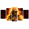 Wholesale Canvas Prints Special Force Fire Soldier Modern Home Decoration Wall Pictures for Living Room 5 Piece