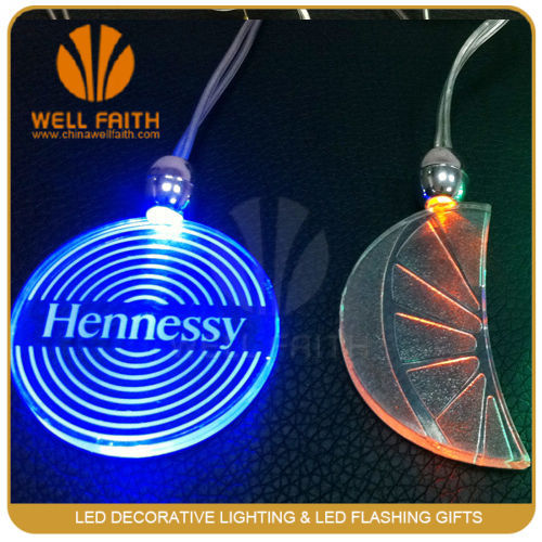 Novelty new products LED flashing wearable necklaces,LED Logo printing glowing necklaces for Christmas decoration