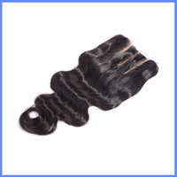 Top Quality Qingdao Factory Price 5X5 Body Wave 100% Brazilian Virgin Human Hair Three Way Part Lace Closure