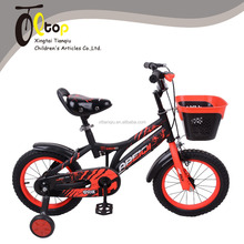 factory price hebei wholesale cool and passionate boy bike/ kid cycle with plastic basket