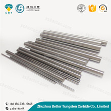 Superior performance round blank carbide rods with one small straight hole for pcd tools