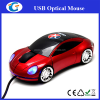 automobile shaped wired usb mouse for pc