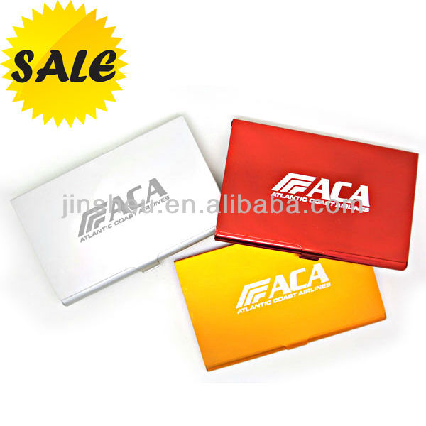 Fashionable Laser Logo aluminium credit card wallet