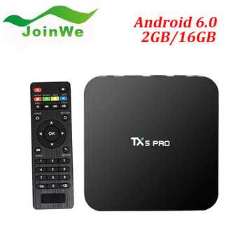 High Speed TX5 PRO Android TV BOX S905X 2GB 16GB Android 6.0 Smart TV BOX Quad Core KODI 16.1Media Player 2.4G+5.8G WIFI
