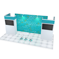 Detian offer simple back-lit exhibition booth design 10 by 20