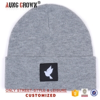 wholesale cheap woven label beanies