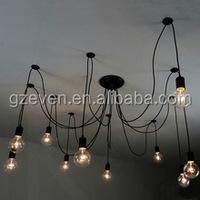 Vintage Pendant Lamps Loft Retro Edison Bulbs Hanging Lights Creative Spider Lighting Fixture