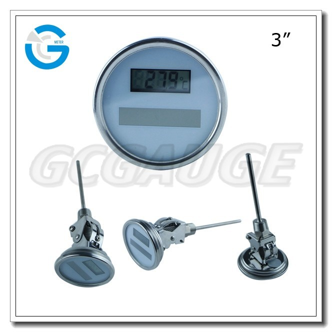 High quality stainless steels solar thermometre digital