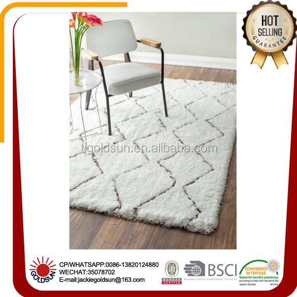 Beste verkauf marokkanischen spalier creme mikrofaser shaggy teppich