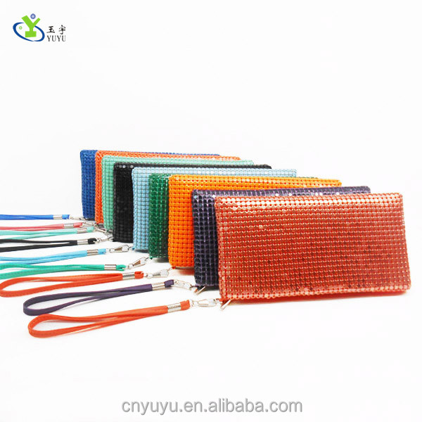 Hot sell metal mesh aluminium purse