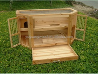 folding/foldable wooden dog crate for travel use