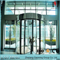 Security 3-wing aluminum glass revolving door for shopping mall