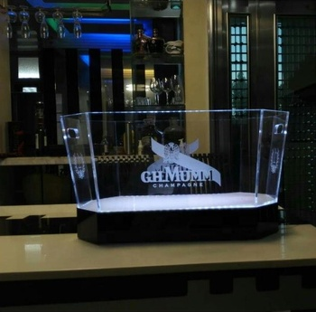 Acrylic LED Ice Bucket, Customize Acrylic Led Ice Bucket