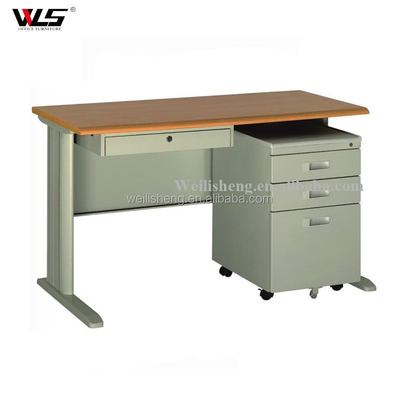 Unique design modern office reception desk partner office table with 3 drawers