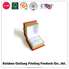 Magnetic closure necklace/ring/bracelet packaging box with foam insert fliptop box with matched tie glued in drop lid