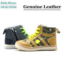 2013 latest design wholesale Suede Leather kids canvas shoes