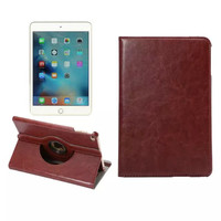 New Arrival 360 Degree Rotating Smart Sleep Wake Leather Cover Folio Stand Cases For iPad mini4 7.9inch