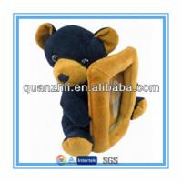 Plush bear designed photo frame toy