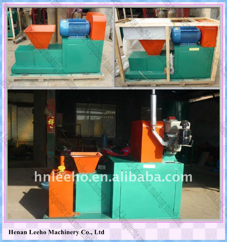 Different electric motor and diesel engine briquette/charcoal making machine 0086 15333820631
