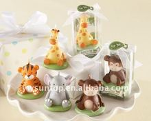 """Born to be Wild"" Animal Candles Favors for baby shower gift"