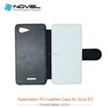 High quality sublimation leather flip phone case for Sony E3