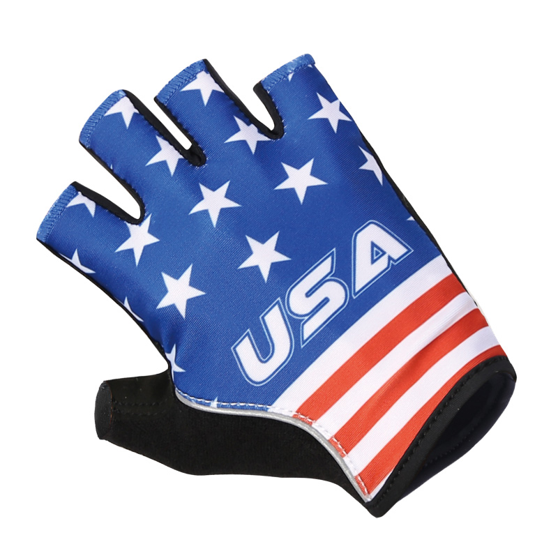 Wholesale high customized quality half finger cycling bike cycle gloves