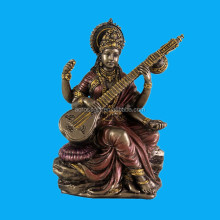 antique bronze hindu shaped resin musician statue for sale