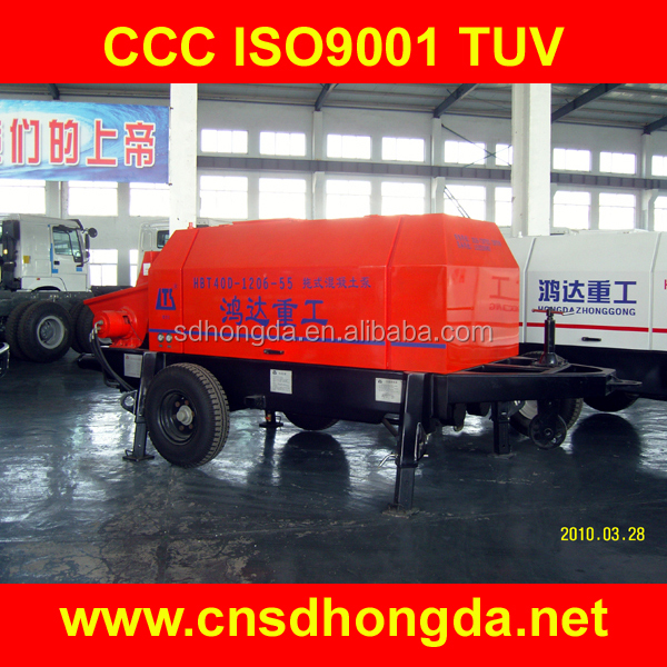 HBT60 Trailer-mounted Concrete Pump diesel, electric