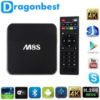 M8S Android TV Box 2 G / 8 G Dual band 2.4 G / 5 G wifi Android 4.4 Amlogic S812 4 K Smart TV BOX