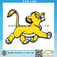Custom wholesale animal applique patch, sew-on animal embroidery patch