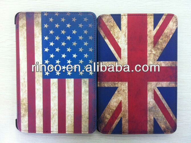 "Flag Leather Case Cover Skin For Apple Ipad MINI 7""tablet"
