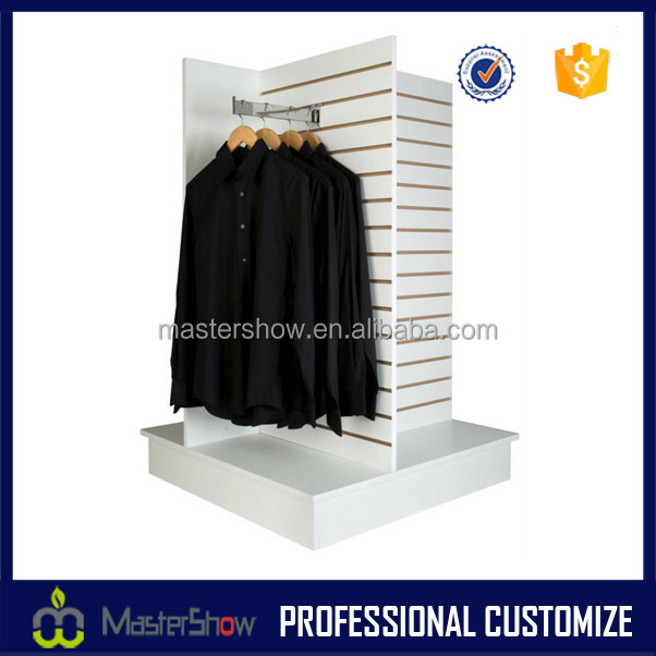 Garment shop floor standing hanging clothes display shelf for 11th floor apparel