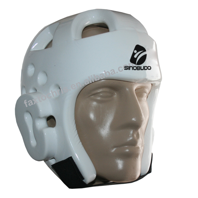WTF Approved Dipped Foam White Taekwondo Head Guard