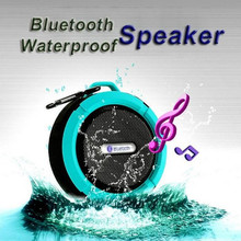 Hot sale in Amazon mini out door bluetooth speaker C6 waterproof For smart phones