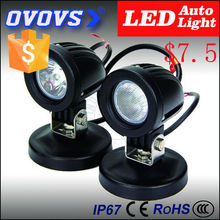 OVOVS 2inch auxiliary best 10w car led driving lights for motorcycle, truck