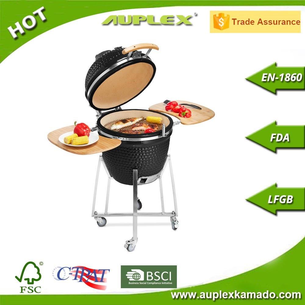 Wholesale egg shaped ceramic bbq grill kamado