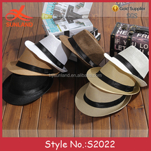 S2022 Korean design unisex sun shading mexico trilby summer hat straw sombrero cowboy hats for sale